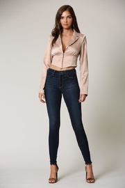 Blithe  Champagne Crop Top - Front cropped