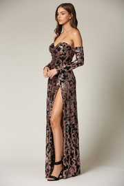 Blithe  Cold-Shoulder Sequin Maxi - Front full body