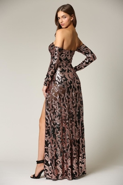 Blithe  Cold-Shoulder Sequin Maxi - Alternate List Image