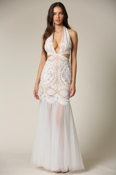 Blithe  Cut-Out Halter Maxi - Product List Image