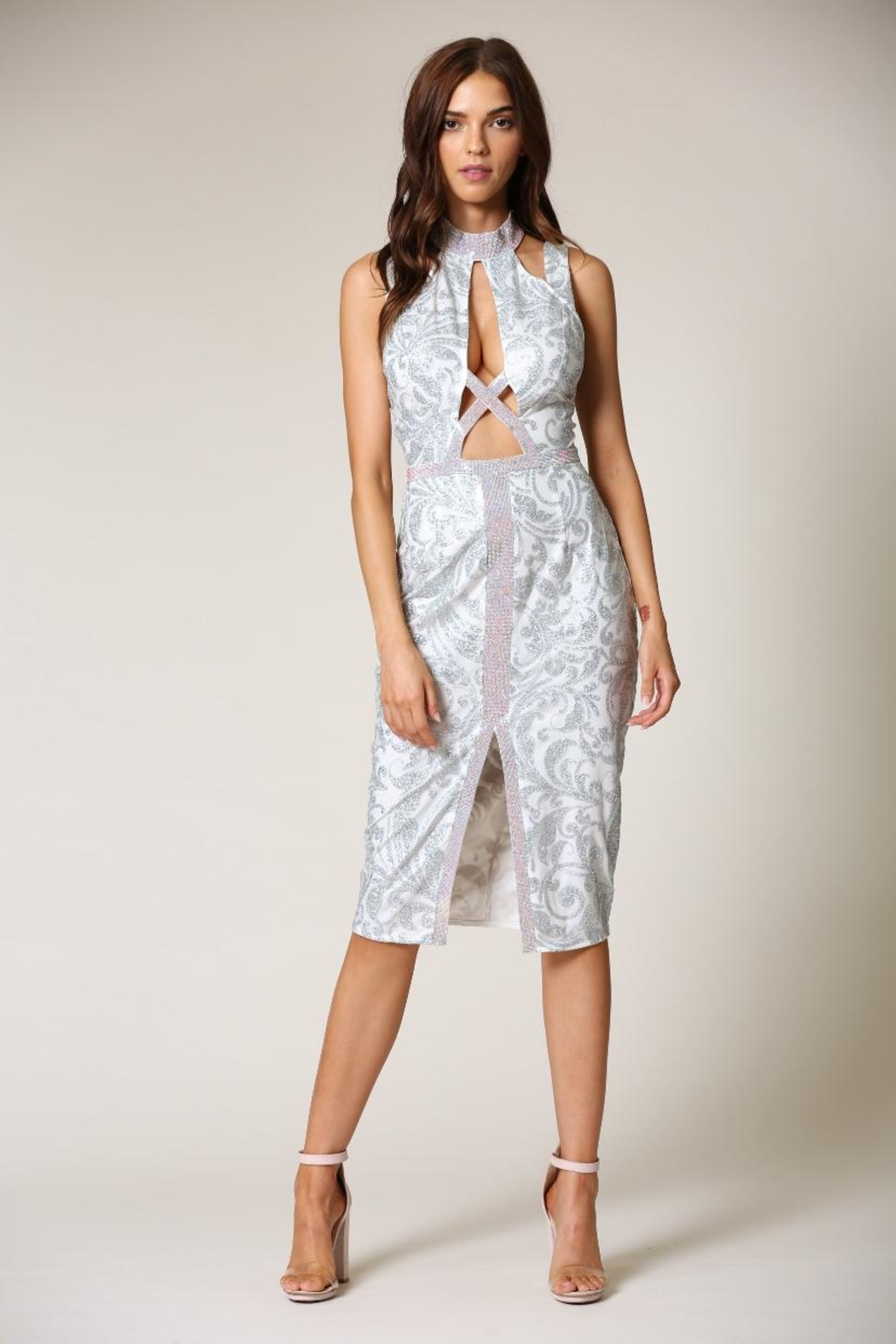 Blithe  Floral-Embroidered Midi Dress - Main Image