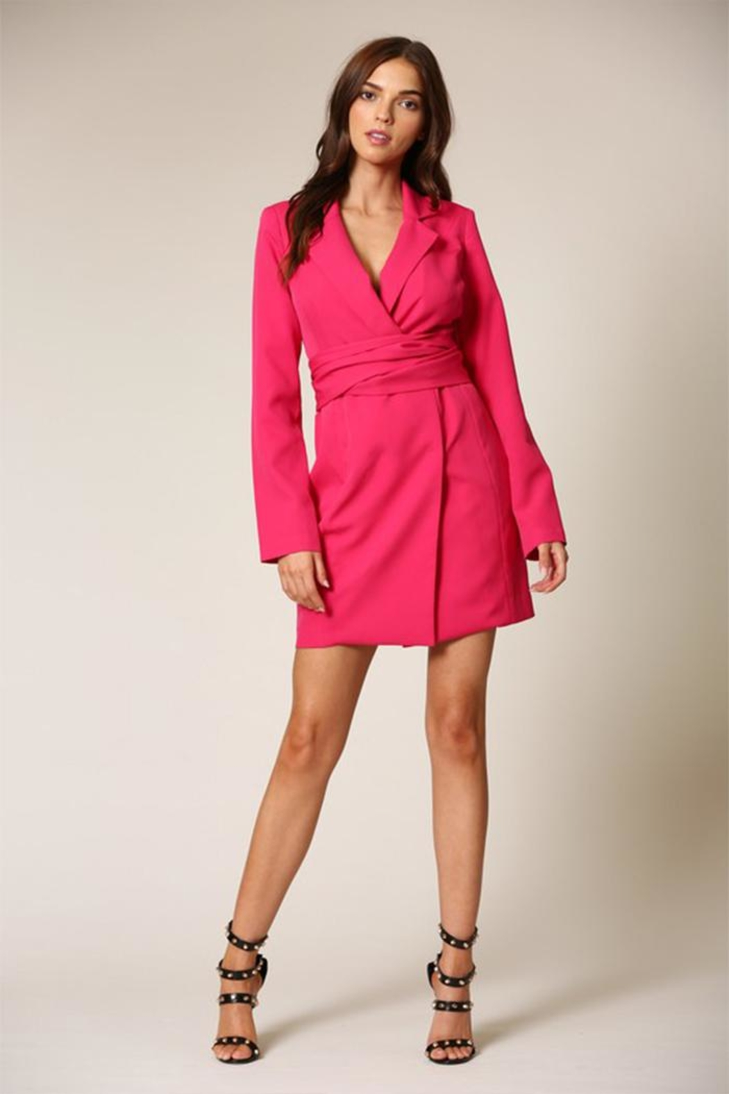 Blithe  Fuschia Mini Dress - Front Cropped Image