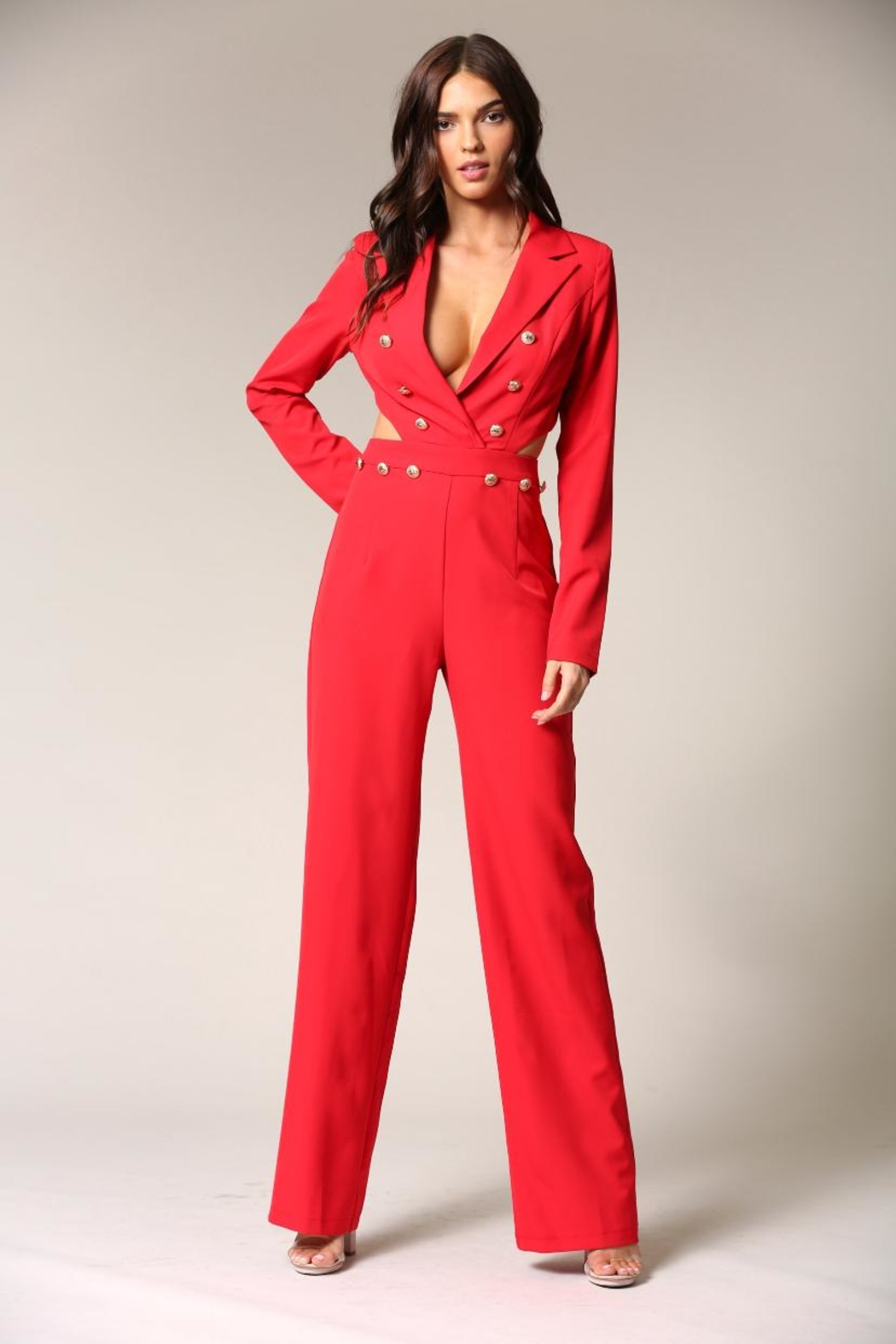 Blithe  Red Jumpsuit - Main Image
