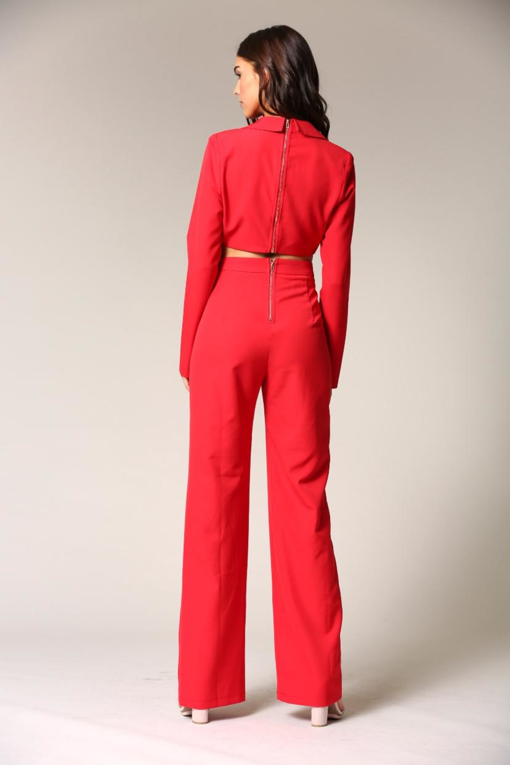 Blithe  Red Jumpsuit - Side Cropped Image