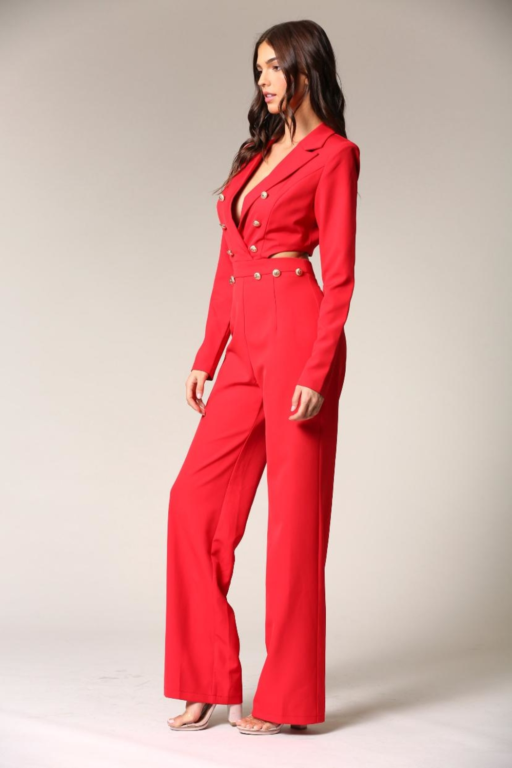 Blithe  Red Jumpsuit - Front Full Image