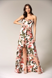 Blithe  Strapless Floral Dress - Product Mini Image