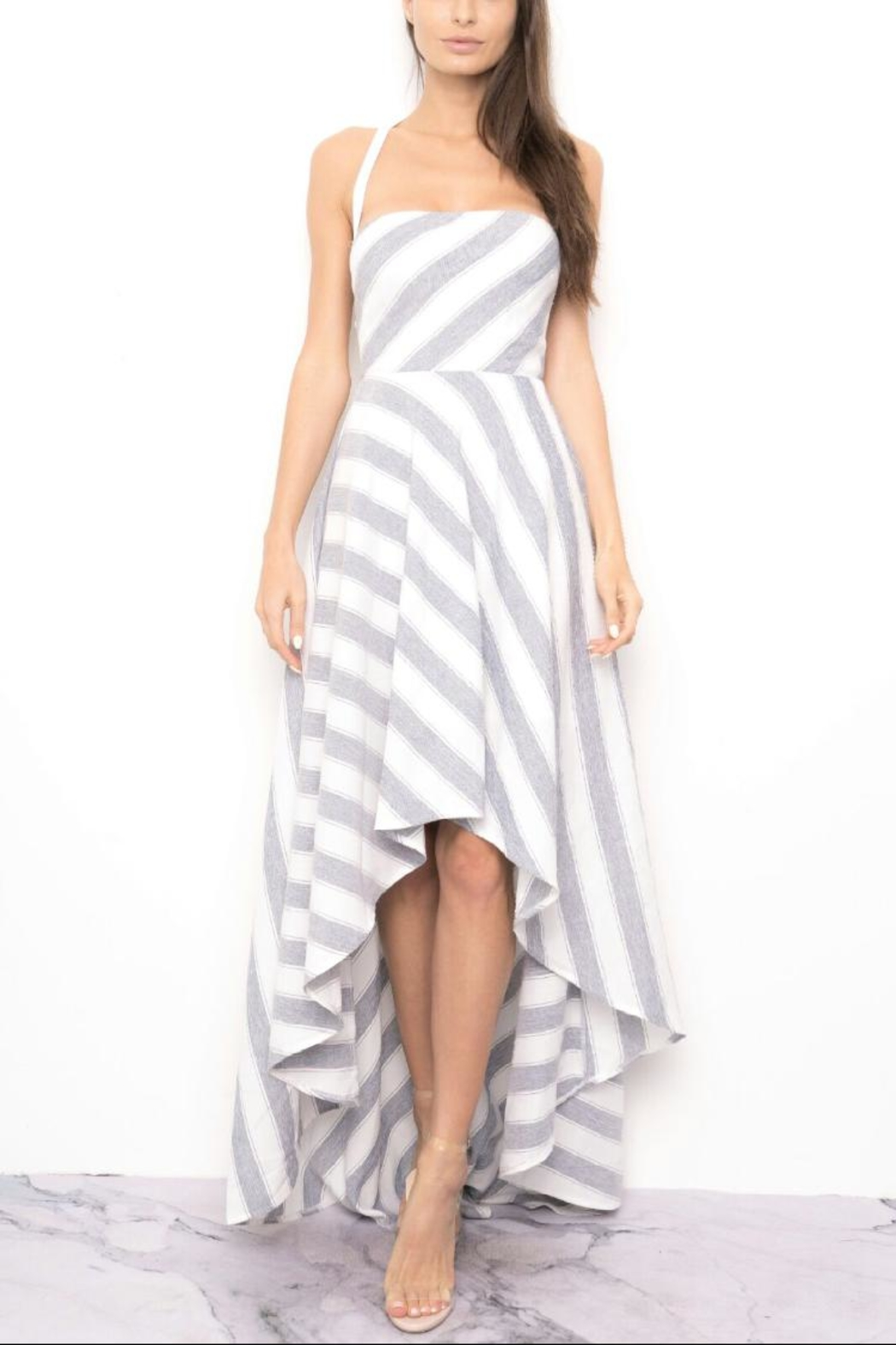 Blithe  Striped High-Low Dress - Main Image