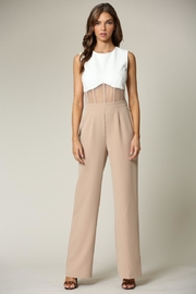 Blithe  White-Beige Jumpsuit - Product Mini Image