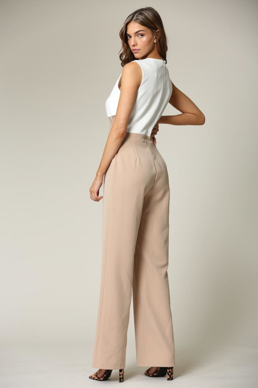 Blithe  White-Beige Jumpsuit - Side Cropped Image