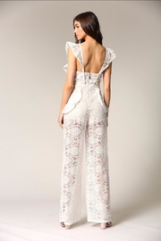 Blithe  White Lace Jumpsuit - Side cropped