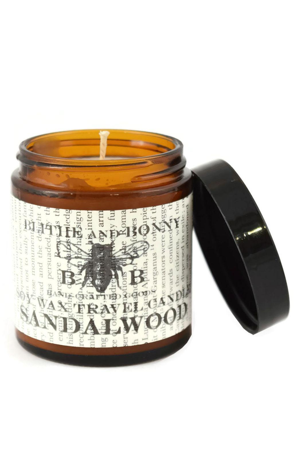 Blithe and Bonny Sandalwood Travel Candle - Main Image