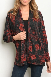 Available Blk/red Floral Cardigan - Product Mini Image