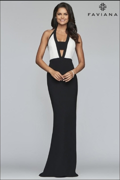 Faviana Block Color Gown - Product List Image