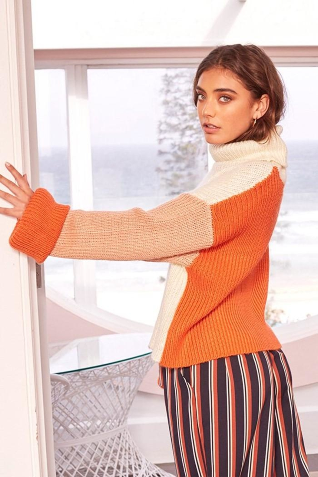 MinkPink Block Colour Sweater - Side Cropped Image
