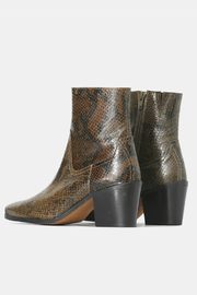 Shoe the Bear BLOCK HEEL SNAKE PRINT BOOT - Side cropped