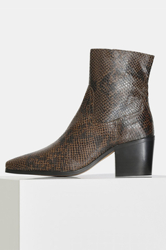 Shoptiques Product: BLOCK HEEL SNAKE PRINT BOOT