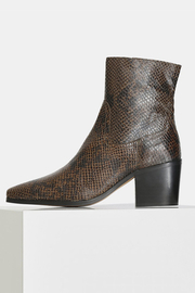 Shoe the Bear BLOCK HEEL SNAKE PRINT BOOT - Product Mini Image