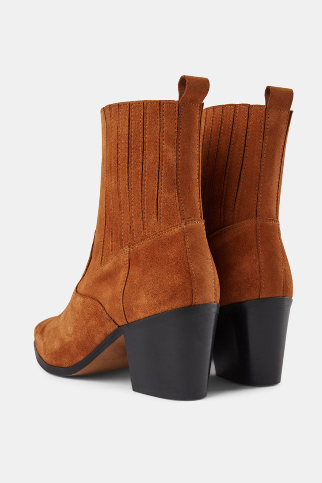 Shoe the Bear BLOCK HEEL SUEDE ANKLE BOOT - Side Cropped Image