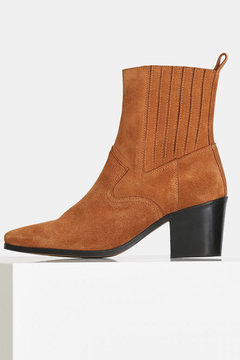 Shoptiques Product: BLOCK HEEL SUEDE ANKLE BOOT