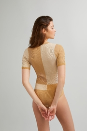 Free People  Block Party Bodysuit - Front full body