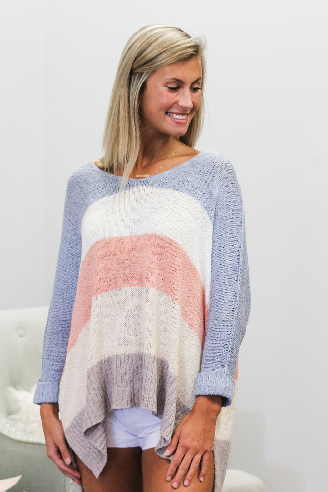She + Sky Block Party Sweater - Front Full Image
