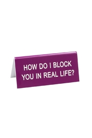 About Face Designs Block You Sign - Product Mini Image