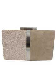 Sondra Roberts Blocked Faux Suede and Glitter Box Clutch - Product Mini Image