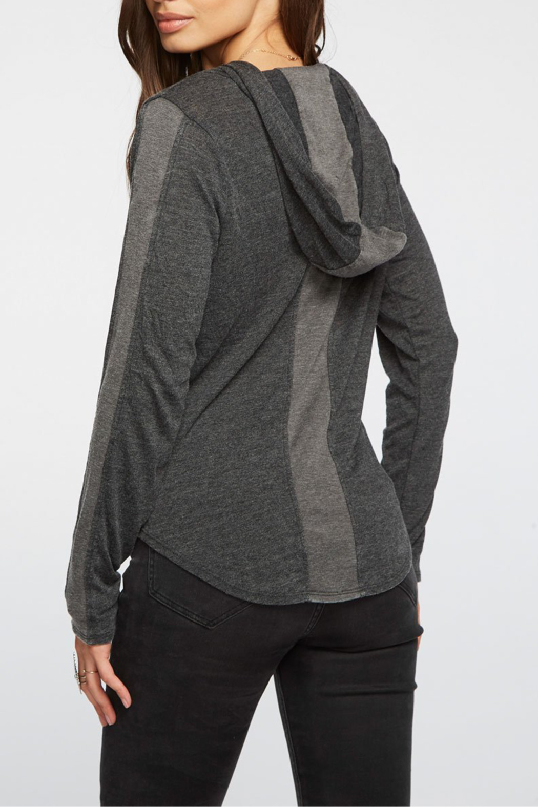 Chaser Blocked Jersey ZIp-up Hoodie - Front Full Image