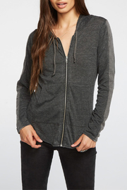 Chaser Blocked Jersey ZIp-up Hoodie - Front cropped
