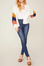 BB Dakota Blocked-Sleeve Cardi - Product Mini Image