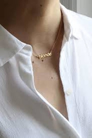 Brunette The Label Blonde Gold Necklace - Product Mini Image