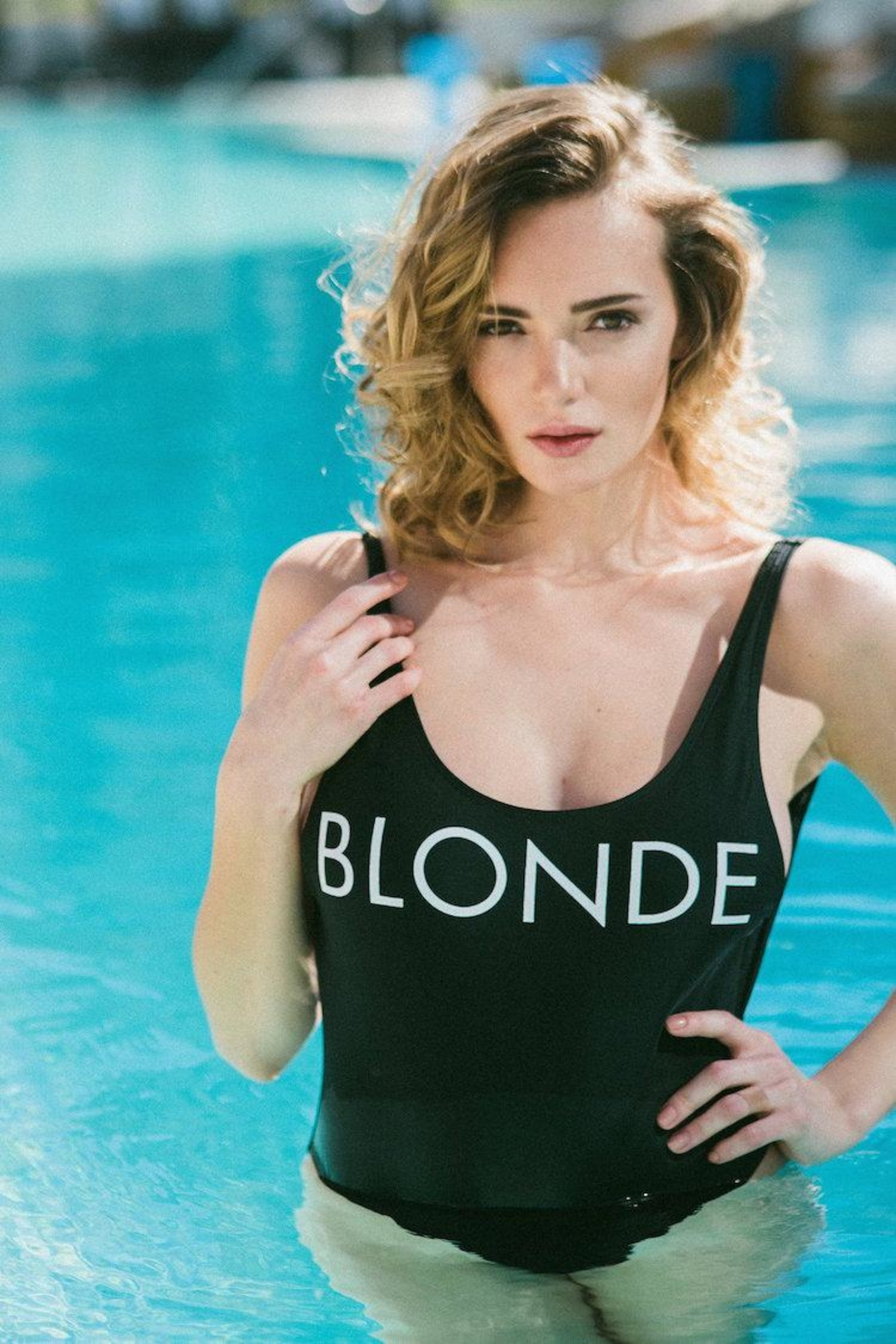 Brunette The Label Blonde One Piece - Front Full Image