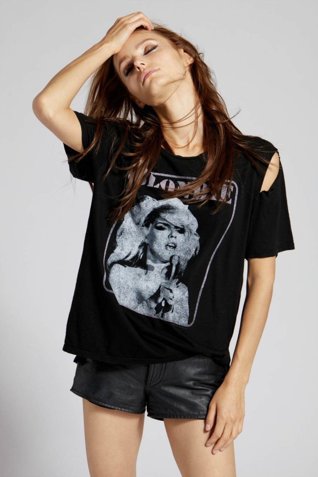 Recycled Karma BLONDIE CAPTION TEE - Front Full Image