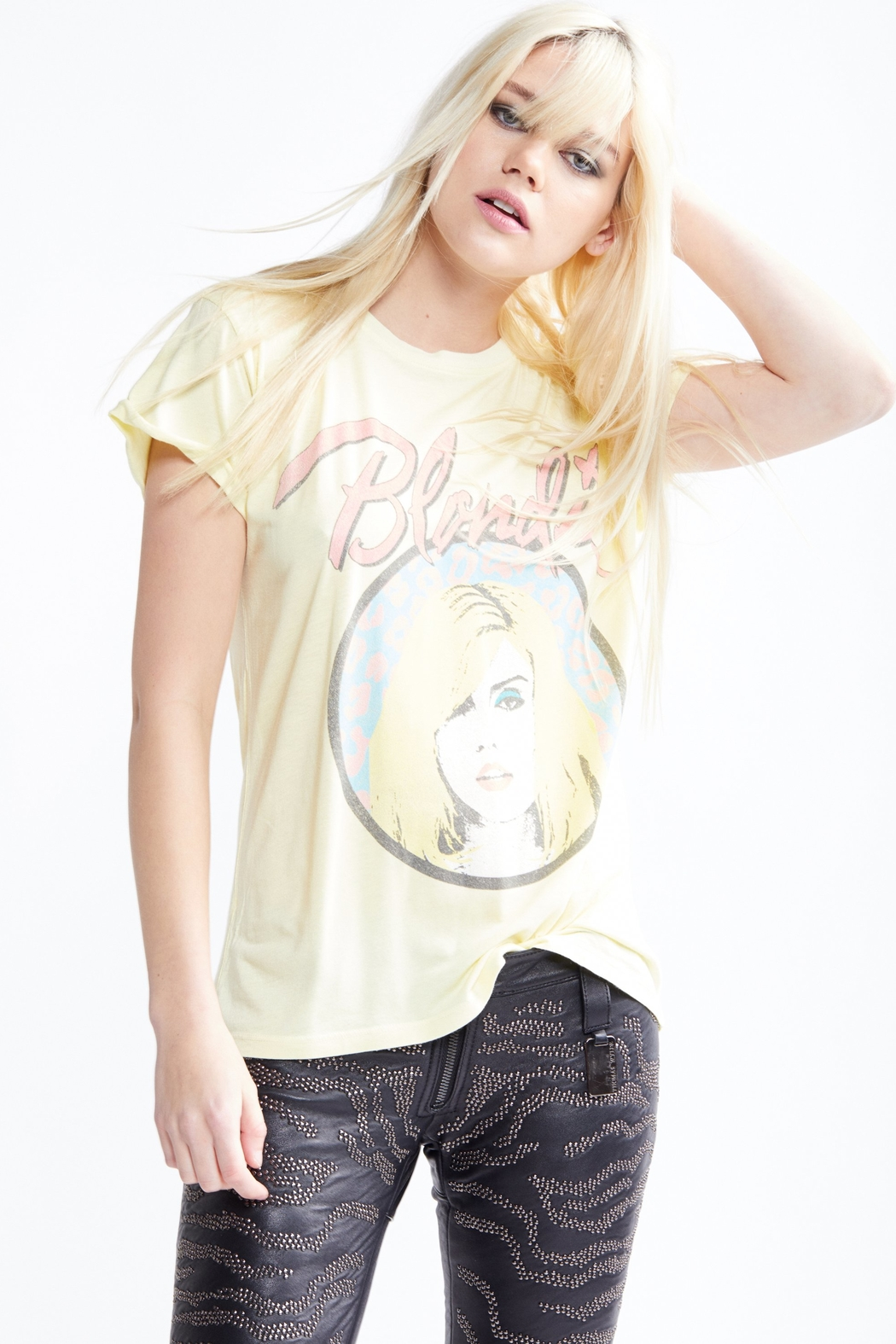 Recycled Karma Blondie Leopard Tee - Front Full Image