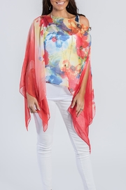 Blondie Apparel Floral Scarf Top - Product Mini Image