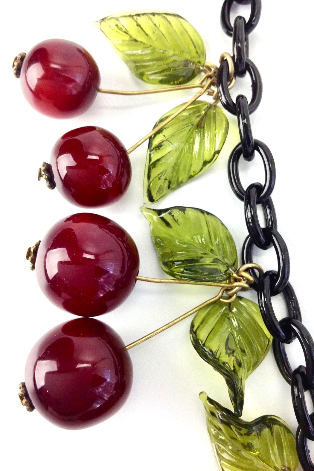 GHome2 Blood Cherry Necklace - Back Cropped Image