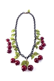 1930s Jewelry | Art Deco Style Jewelry Blood Cherry Necklace $98.00 AT vintagedancer.com