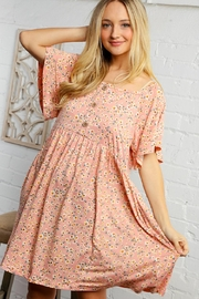 Bloom Floral Print Dress - Front cropped