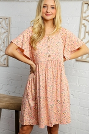 Bloom Floral Print Dress - Front full body