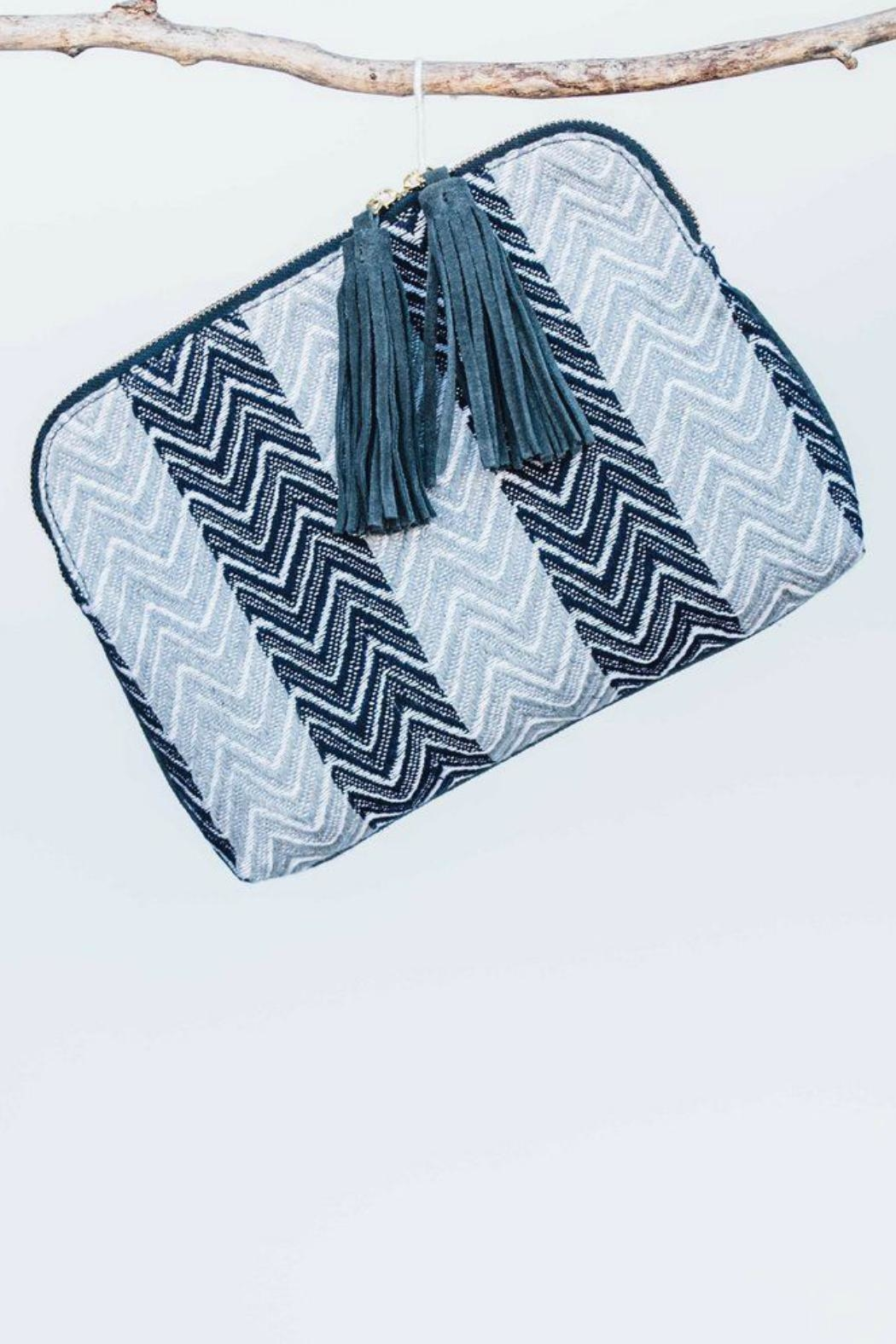 Bloom & Give Cotton Jacquard Clutch - Main Image