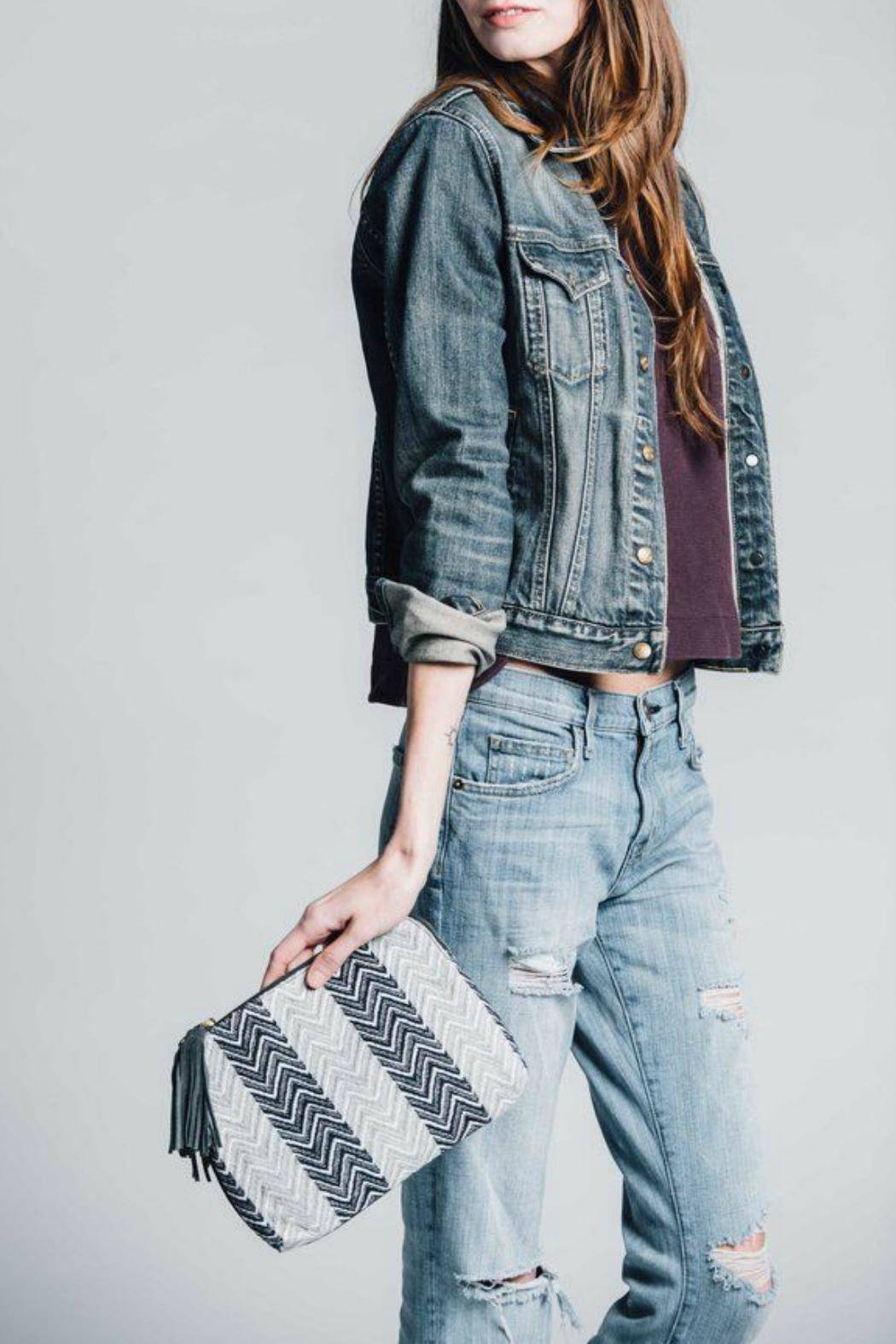 Bloom & Give Cotton Jacquard Clutch - Front Full Image