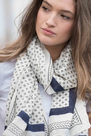 Bloom & Give Santorini Cotton Scarf - Back cropped