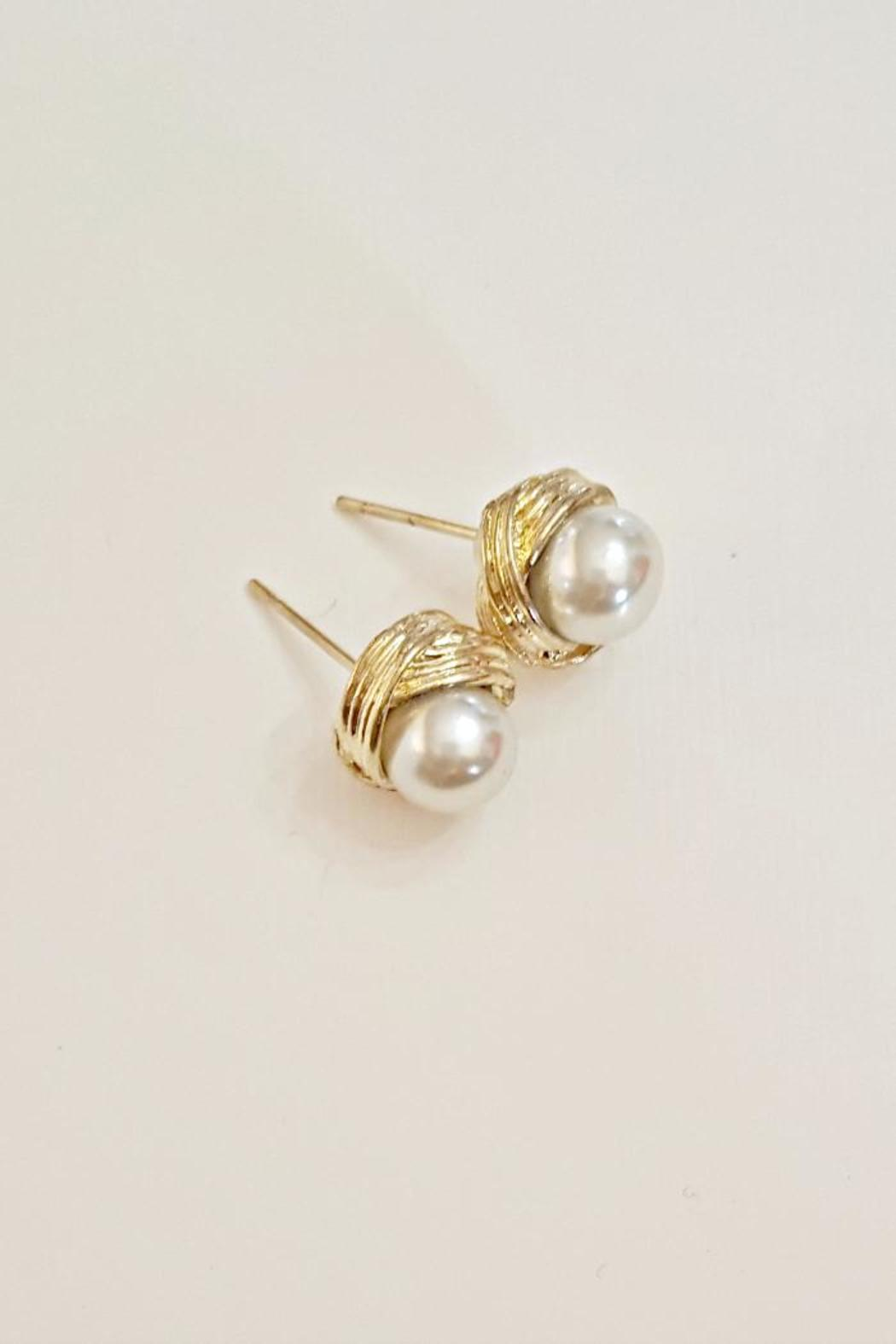 Bloom Jewelry Faux Pearl Earrings - Front Cropped Image