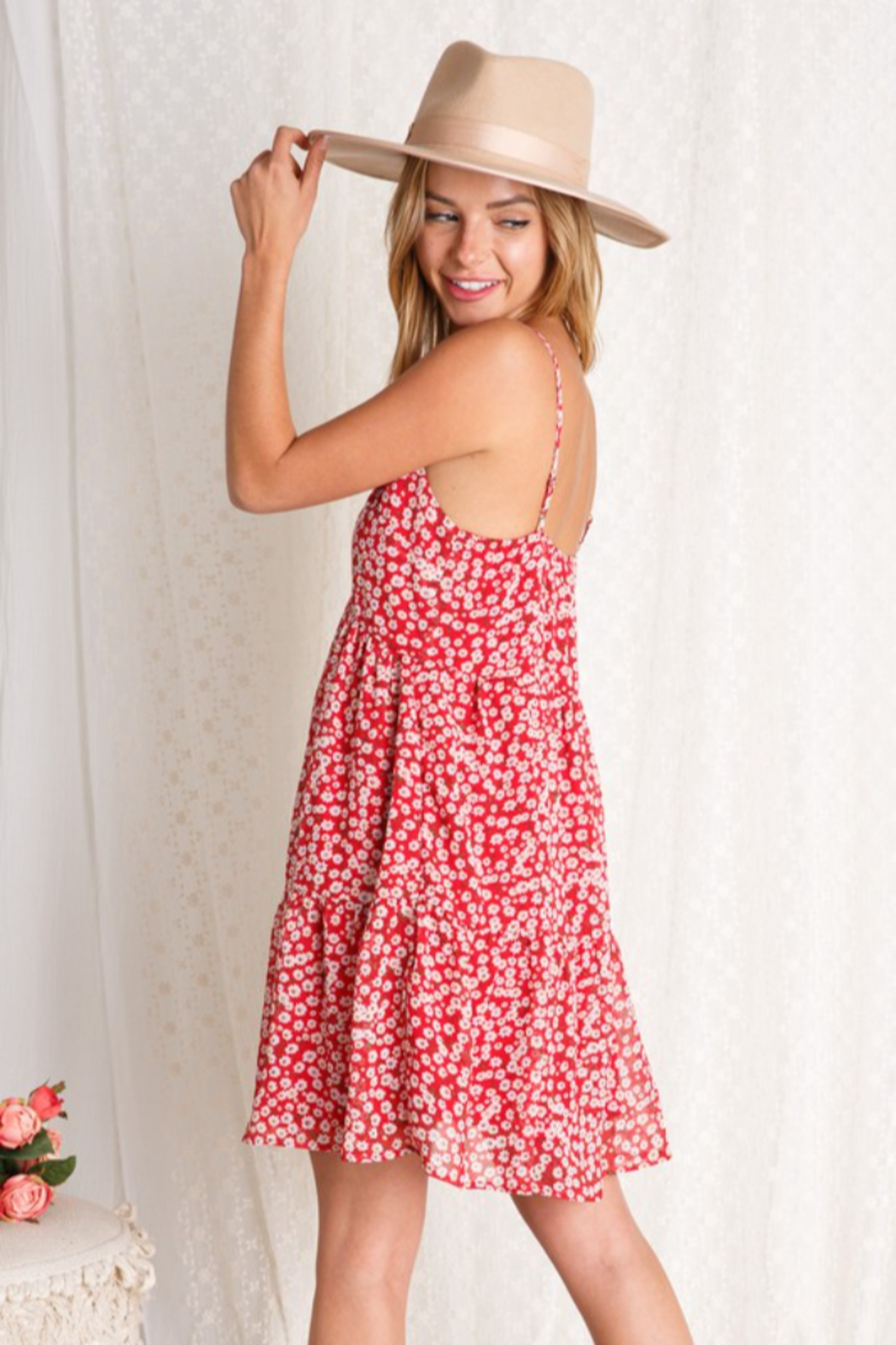 BaeVely Blooming Dress - Back Cropped Image