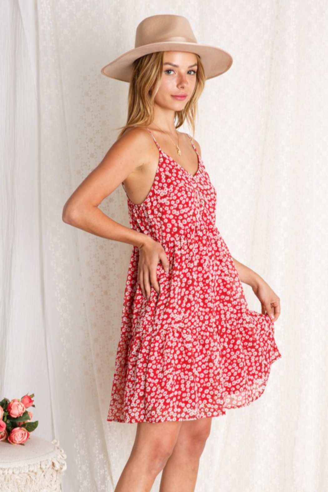 BaeVely Blooming Dress - Side Cropped Image