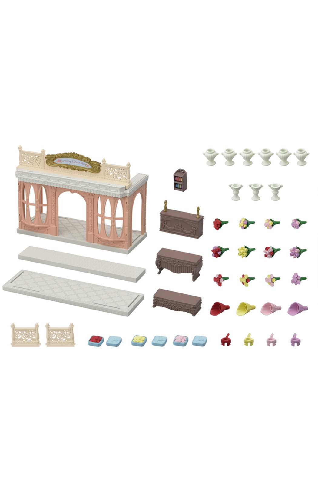 Calico Critters Blooming Flower Shop - Front Full Image