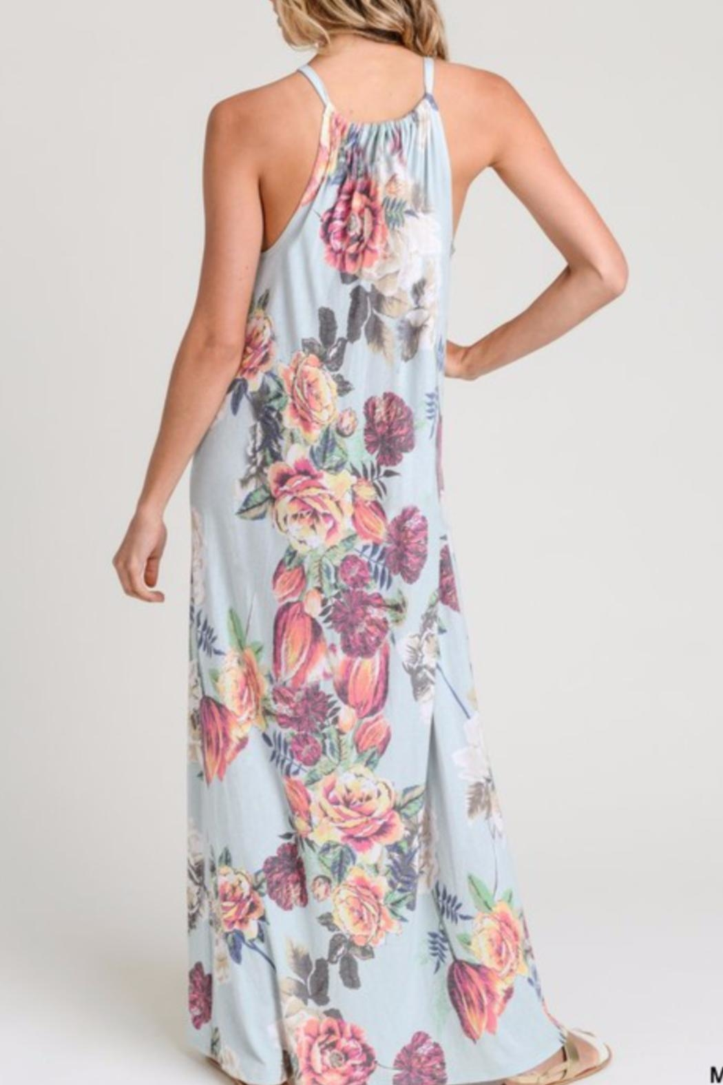 Jodifl Blooming Halter Maxi - Front Full Image