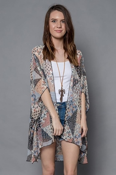 Boho Jane Blooming Prints Kimono - Product List Image