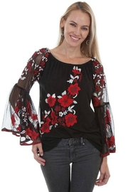 Scully Blooming Romance Top - Front cropped