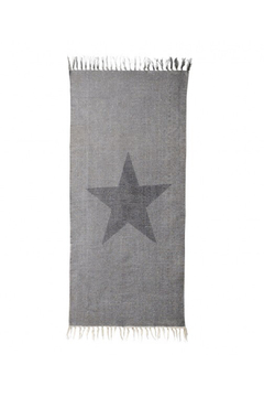 Shoptiques Product: Black Star Woven Tassel Rug